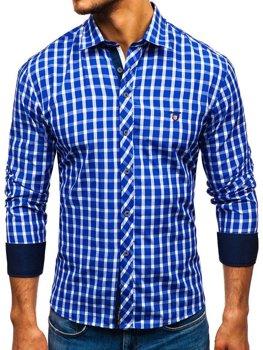 Koszula męska BOLF 4747 chabrowa