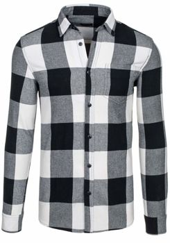 Koszula męska LOUIS PLEIN 7201 czarna