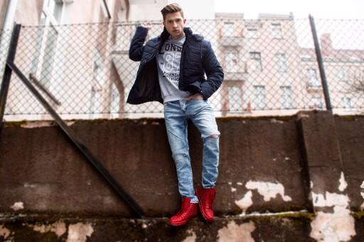 buty bordowe męskie czy modne