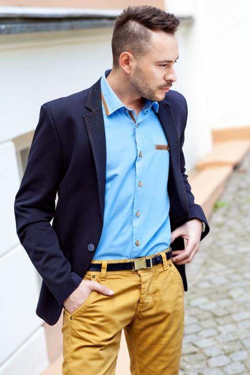 68790290965c1 Lepiej też wybierać spodnie męskie gładkie i bez wzorów. Kratki i prążki  znacznie ograniczają wybór marynarki do zestawu.