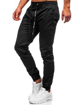 spodnie czarne zawijane męskie